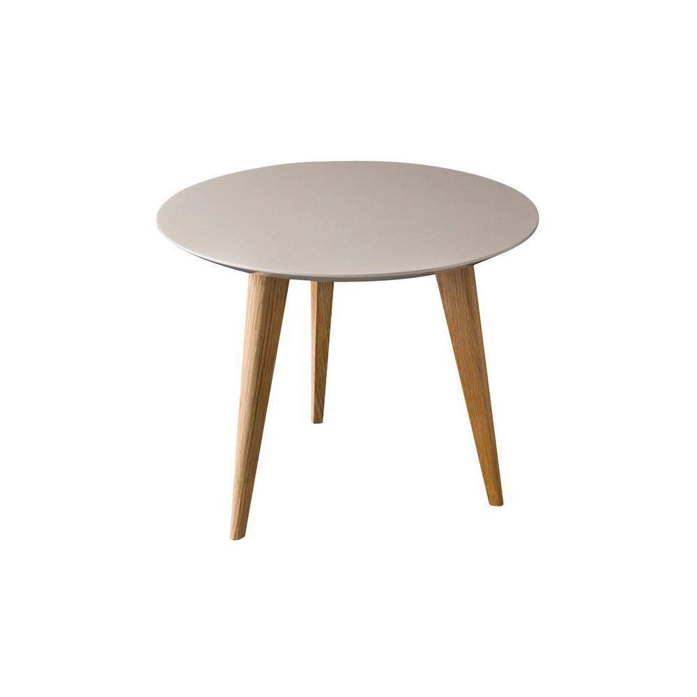 table lalinde ronde gris clair sentou mobilier smallable. Black Bedroom Furniture Sets. Home Design Ideas