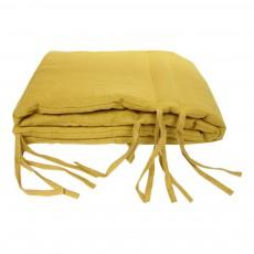 Tour de lit Lin lavé Jaune moutarde