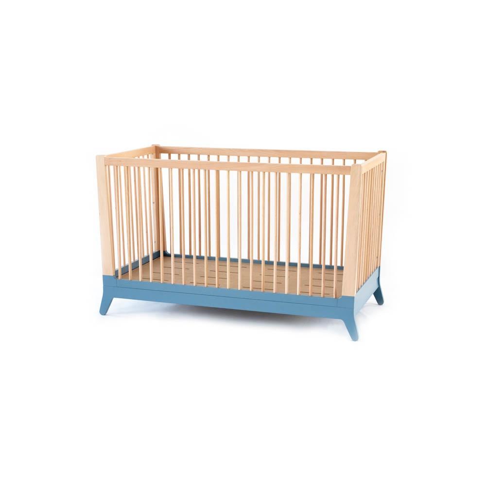 Lit b b volutif bleu nobodinoz mobilier smallable for Mobilier lit