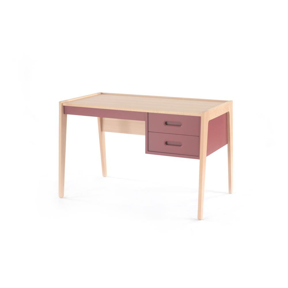 Bureau rouge brique nobodinoz mobilier smallable for Bureau rouge