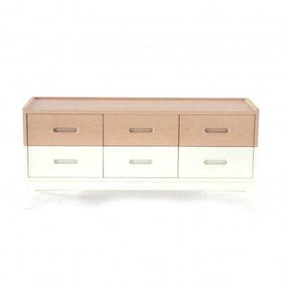 commode 6 tiroirs blanc le fait main. Black Bedroom Furniture Sets. Home Design Ideas
