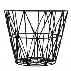 Panier Wire grand - Noir