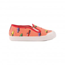 Slip On Toile Voitures Rouge