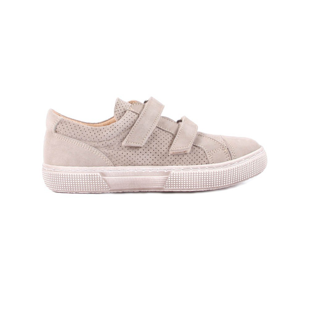 baskets scratch cuir perfor beige p p chaussures enfant smallable. Black Bedroom Furniture Sets. Home Design Ideas