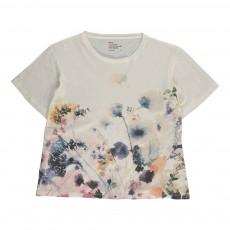 T-shirt Oversize Fleuri Toy Blanc