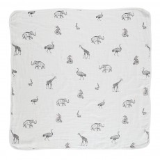 Plaid Animaux Pan-Pan Blanc