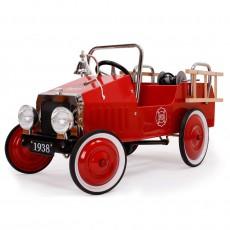 Camion de pompier à pédales Rouge