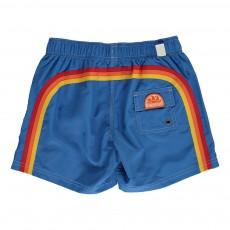 Short de Bain Uni Bande Tricolore Bleu électrique