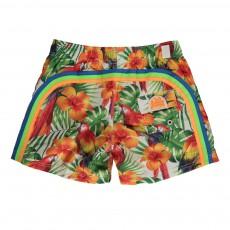 Short de Bain Tropical Bird Multicolore
