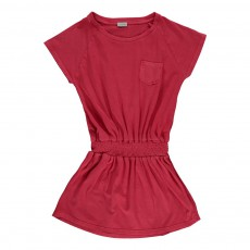Robe Smockée Rouge cerise