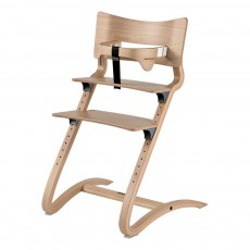 Chaise haute avec arceau naturel
