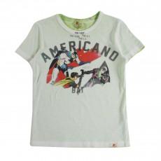 "T-shirt Comics ""Americano""  Vert pâle"