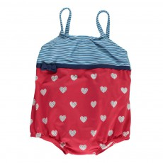 Maillot 1 Pièce Marin Girl Double Protection Rouge