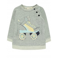 Sweat Roller Dessine-Moi Gris chiné