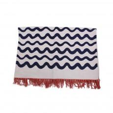 Tapis en coton Waves All over Multicolore