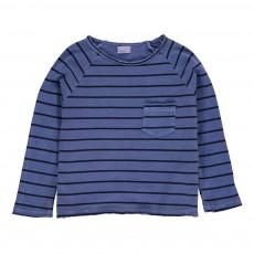 T-shirt Rayé Marco Bleu indigo