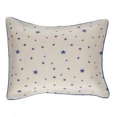 Taie d'oreiller étoilée Nuage 50x70 cm - Blanc et bleu électrique