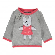 Sweat Bunny Dress Gris chiné