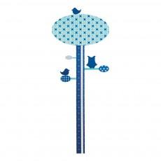 Toise sticker arbre Bleu