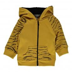 Sweat Tigre Jungle Jaune moutarde