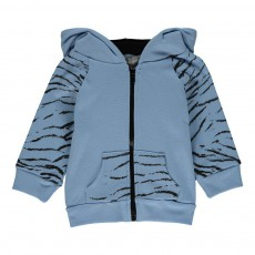 Sweat Tigre Jungle Bleu