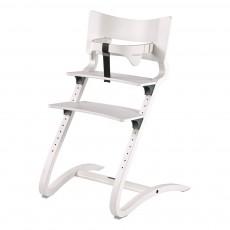 Chaise haute avec arceau Blanc satiné
