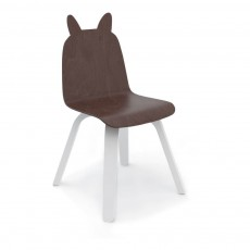 Chaises Play lapin noyer - Lot de 2