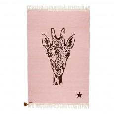 Tapis Gypsy en coton - Girafe Rose