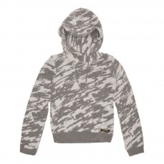 Pull Capuche Camouflage Lotta Gris