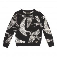 Pull Oiseaux Tove Noir