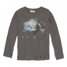T-Shirt Bison Longjohn Gris foncé