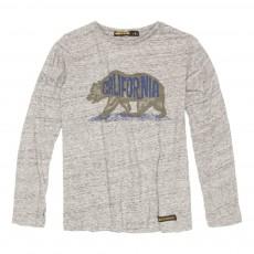 T-Shirt Ours Longjohn Gris chiné