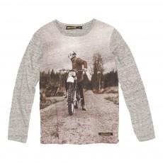T-Shirt Moto Longjohn Gris chiné