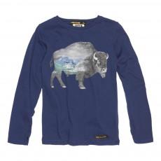 T-Shirt Bison Longjohn Bleu marine