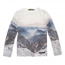 T-Shirt Paysage Montagne Longjohn Bleu