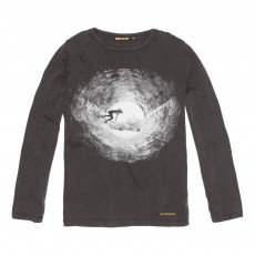 T-Shirt Skater Longjohn Noir