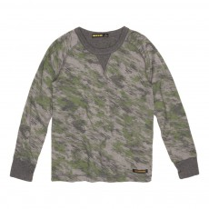 T-Shirt Camouflage Neal Gris chiné