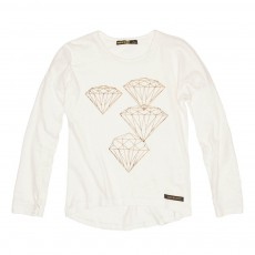 T-Shirt Diamants Saria Blanc
