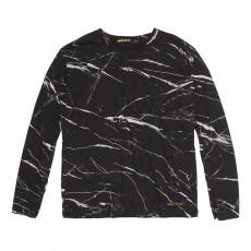 T-Shirt Marbré Shine Noir