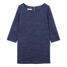 Robe Droite Lurex Friday Time Bleu