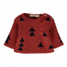 Pull Jacquard Sapins Rouge