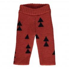 Pantalon Maille  Sapins Rouge