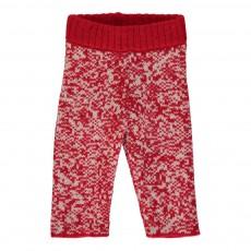 Pantalon Maille Fantasy Rouge