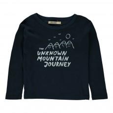 T-shirt Mountain Bleu marine