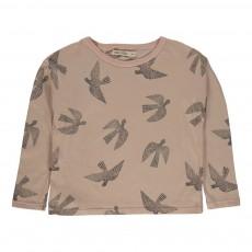 T-shirt Oiseaux Rose pâle