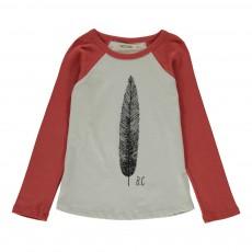 T-shirt Raglan Plume Rouge