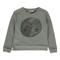 Sweat Lune Gris chiné
