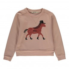Sweat Cheval Rose pâle