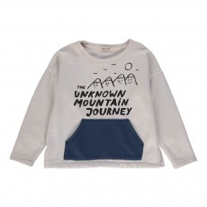 Sweat Poche Kangourou Mountain Ecru