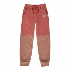 Jogger Molleton Color Block Rouge délavé